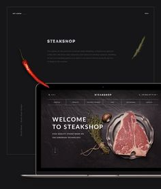 High Quality Steaks on Behance web design meat оформление Meat And Potatoes Recipes, Meat Recipes For Dinner, Meat Restaurant, Restaurant Website, Web Design, Food Design, Design Ideas, Steak Shop, Carnicerias Ideas