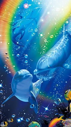 Dream dolphin The wooden puzzle 1000 pieces ersion jigsaw puzzle white card adult children's educational toys Nature Pictures, Cute Pictures, Beautiful Pictures, Ocean Wallpaper, Wallpaper Backgrounds, Cartoon Sea Animals, Cute Animals, Dolphin Art, Underwater Creatures