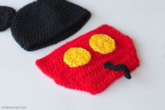 Ravelry: Mickey Mouse Hat & Diaper Cover by Olivia Kent