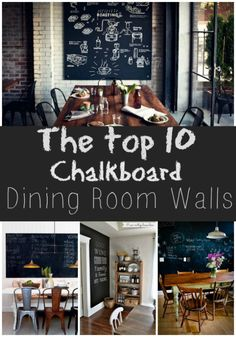 Trend to love: Dining room chalkboard wall