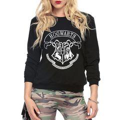 Women Fashion HOGWARTS print sweatshirt Harry Potter Deathly Hallows pink hoodies femme funny harajuku brand tracksuits mma