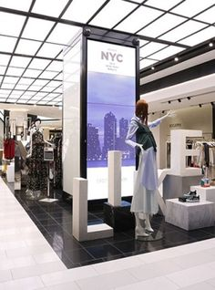 Nulty - Bloomingdale's, 360 Mall, Kuwait - Back Illuminated Signage Merchandising Retail Store Bespoke Skylight