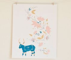 Ama The Bull Poster $45