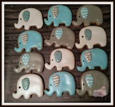 These are cute little elephant cookies perfect for a baby shower or birthday party. The colors can be customized to fit your theme. Each cookie is about 2 inches perfect for a party favor.  Each cookie will be individually wrapped and heat sealed for freshness. I can tie each bag with a ribbon for Cookie Favors for an additional cost.   Add a name or numbers in cookies to your order for a special touch: https://www.etsy.com/listing/183703776/letter-and-number-cookies-add-on-to  Add on some…