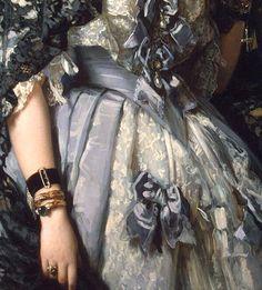 "Portrait of Sophia Alexandrovna Radziwill"" (1864) (detail) by Franz Xaver Winterhalter (1805-1873)."
