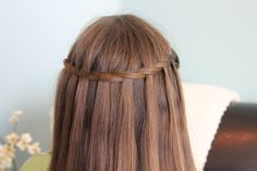 Waterfall Twist | A cheat to the Waterfall Braid and more Hairstyles from CuteGirlsHairstyles.com