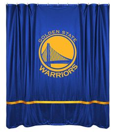Golden State Warriors NBA Sports Coverage Team Color Shower Curtain Sidelines  #SportsCoverage #GoldenStateWarriors
