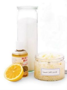 Salt Scrub Recipe for smooth summer skin. Salt is a great for exfoliating skin. Plus is has the added benefit of removing toxins from your skin. A salt scrub made from a combo of sea salt, your favorite oils and scents is perfect for getting your skin in shape for tanning season this summer or to just show off those legs! Use your handmade salt scrub all over your body for soft smooth skin paying special attention to feet and hands!