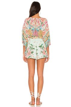 7a186aa47bb1 Spell   The Gypsy Collective Lotus Kimono Romper in Peacock