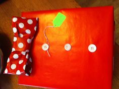 Bow tie shirt wrapped gift
