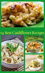 14 Best Cauliflower Recipes - Made Simple Life Side Dish Recipes, Veggie Recipes, Paleo Recipes, Cooking Recipes, Best Cauliflower Recipe, Cauliflower Side Dish, Clean Eating, Healthy Eating, Vegetable Side Dishes