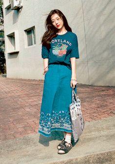 Sulli - Nylon Magazine May Issue Frock Fashion, Kpop Fashion, Asian Fashion, Skirt Fashion, Fashion Outfits, Womens Fashion, Sulli Choi, Choi Jin, Hijab Style