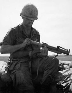American soldier with an M79