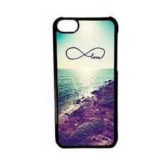 CellPowerCasesTM Costal Love Infinity Case for iPhone 5c (Black Case) ($9.98) ❤ liked on Polyvore