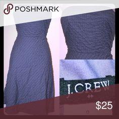 J. CREW Grey Seersucker fabric Strapless dress Strapless Dark Gray Seersucker fabric.  J Crew always known for beautiful quality pieces of Classic women's wear J. Crew Dresses Strapless