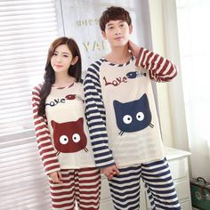 2016 Women Summer Lovers Couple Sleepwear 100% Cotton Character Pijama Men Shorts Women's Lounge Couple Pajama Set Plus Size 4XL