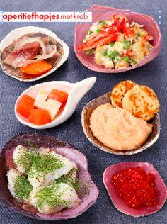 Aperitiefhapjes met krab - Voorgerechten - Recepten - Food - Home - ELLE België