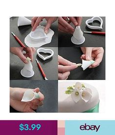 Dimensional Artwork - Polymer Clay Flowers On Weathered Wo Easy Polymer Clay, Polymer Clay Flowers, Ceramic Flowers, Fondant Flower Tutorial, Fondant Flowers, Homemade Clay, Clay Art Projects, Cake Decorating Tips, Calla Lily