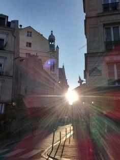 Sunshine @ rue de l ecole polytechnique, 75005 Paris, december 2014