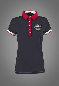 a3ae92e702 Polo-shirt woman Equiline H00640 Mabelle in stretch cotton Design De Camisa  Polo