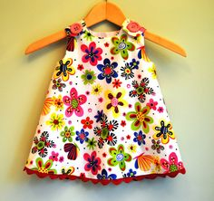 Party Bug Flower and Butterfly - Baby Dress - Nursery - Children Clothing - Toddler Girls - Beach Dress Toddler Dress, Toddler Outfits, Baby Dress, Kids Outfits, Toddler Girls, Little Girl Dresses, Girls Dresses, Party Dresses, Couture Bb