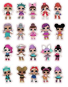 Funny Birthday Cakes, Birthday Parties, Lol Doll Cake, Paper Dolls Printable, Doll Party, Lol Dolls, Cupcake Party, Disney Art, Art For Kids