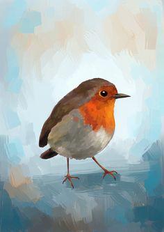 Robin - Art Print by Freeminds