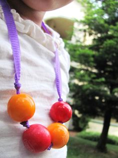 EDIBLE Gumball Necklace or bracelet Pick your own COLORS. $3.75, via Etsy.