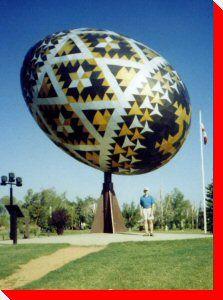 The Vegreville, Alberta Egg - Google Image Result for http://www.roadsideattractions.ca/egg.jpg