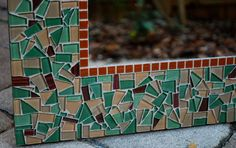 Custom Glass Mosaic Mirror Green Wall Mirror by GreenStreetMosaics, $150.00