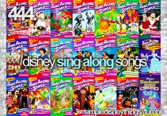 Sing Alongs... i loved these movies!!!!  Can we do disney song karaoke? PLEEEEEEASE