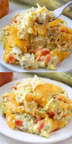 Easy Casserole Recipes, Easy Dinner Recipes, Easy Meals, Soup Recipes, Dinner Ideas, Crack Chicken, Chicken Soup, Chicken Rice Casserole, Cooked Chicken Recipes