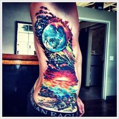 Incredible and shocking space tattoo designs to astound you. Enjoy over 44 awesome space tattoos and science fiction body art ideas. (SEE SPACE TATTOOS) Licht Tattoo, Paar Tattoo, Side Tattoos, Body Art Tattoos, Tattoos For Guys, Tatoos, Tattoo Ink, Sleeve Tattoos, Finger Tattoos