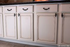 #painted kitchen #cabinets #chalk paint