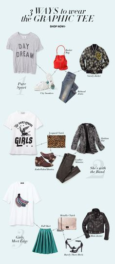 3 ways to wear the graphic tee. Shop now