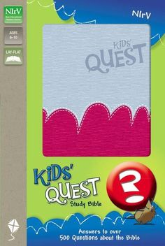 The NIrV Kids' Quest Bible answers over 500 questions children ages 6-9 ask about the Bible, about their world, and about God.  It speaks their language and answers their questions in a way they can understand.