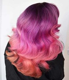 Cool Pink and Orange Hair