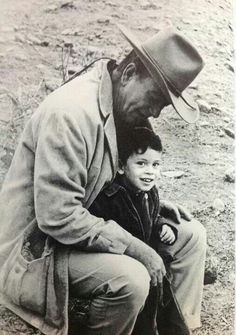 John Wayne and son Ethan / He named his son Ethan after his favorite role, Ethan Edwards in THE SEARCHERS.