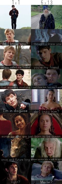 The fact that they went from strangers to friends and the fact that Arthur acted as if he wanted nothing to do with merlin at first but as the end drew near he treated him like his best friend is amazing to me and it also breaks my heart ❤️