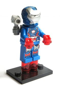 Iron Patriot Marvel Universe Ironman Custom Lego Moc Minifigure Gift For Kids