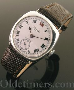1930s cushion silver vintage Mappin, Longines watch