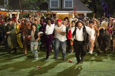 Salma Hayek, Adam Sandler, Chris Rock, Maria Bello, David Spade, Kevin Grady, Kevin James, and Colin Quinn in Grown Ups 2 (2013)
