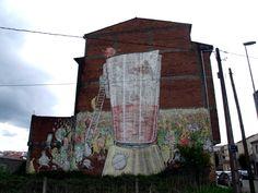 BLU,  Arte urbano en Ordes, Galicia España,