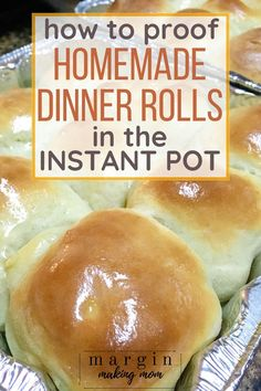 How to Make Homemade Instant Pot Dinner Rolls - Margin Making Mom If you love soft and fluffy homemade dinner rolls, you HAVE to try proofing your dough in the Instant Pot! It is so simple and easy to do! Best Instant Pot Recipe, Instant Pot Dinner Recipes, Easy Dinner Recipes, Instant Recipes, Dinner Ideas, Instant Pot Pressure Cooker, Pressure Cooker Recipes, Slow Cooker, Homemade Dinner Rolls