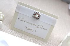 Wedding place cards or escort cards with by AlexandriaLindo, $350.00