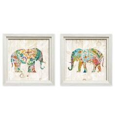 product image for Bohemian Paisley Elephant Framed Wall Art