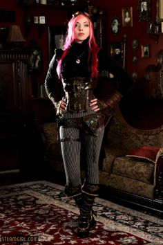 If you must do pants for your steampunk look, this is how you do it. Still looks very Victorian