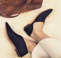 Rilee Shoes ~ Minimal black leather pointy asymmetrical bootie flats by RileeShoes on Etsy https://www.etsy.com/listing/559865471/rilee-shoes-minimal-black-leather-pointy
