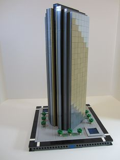 Legosaurus — Micropolis: LEGO Architecture Created by Nathan. Lego Building Sets, Micro Lego, Lego Boards, Amazing Lego Creations, Minecraft Blueprints, Lego Modular, Lego Room, Lego Design, Lego Projects