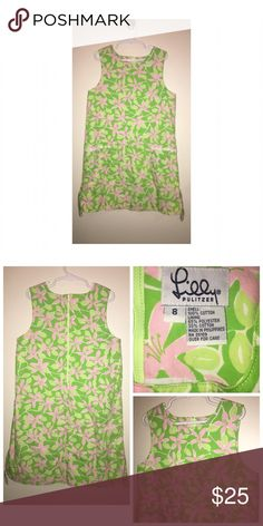 Lilly Pulitzer Girl's Dress Pre•loved Lilly Pulitzer Girl's Dress • Size 8 • Made of 100% Cotton • Zips at the back • Two front pockets • Excellent used condition Lilly Pulitzer Dresses